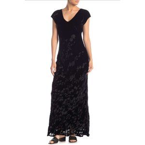 Johnny Was Fedora Velvet Black Maxi Dress NEW